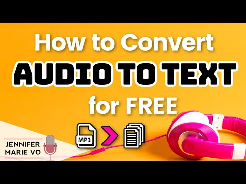 How to Convert Audio to Text for FREE | Transcribe MP3 | Audio to Text Converter for free in 2020