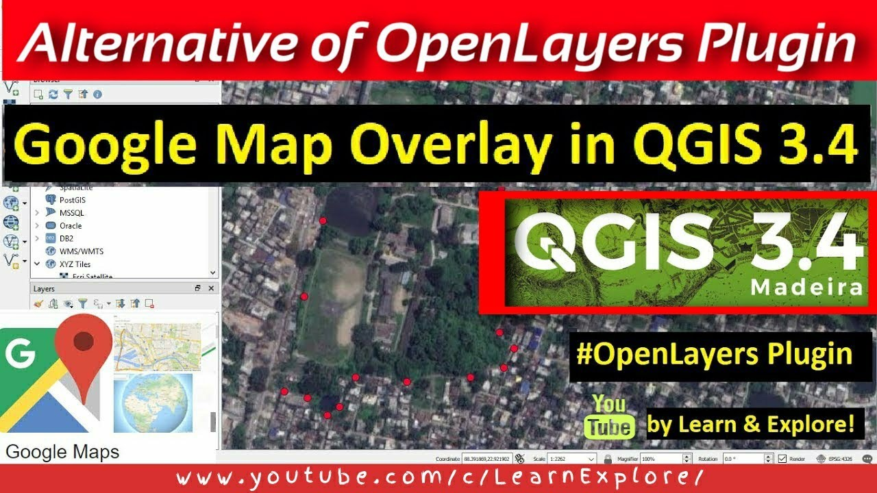 Openlayers Plugin in QGIS 3 4 | Overlay Google Map Satellite in QGIS 3 4