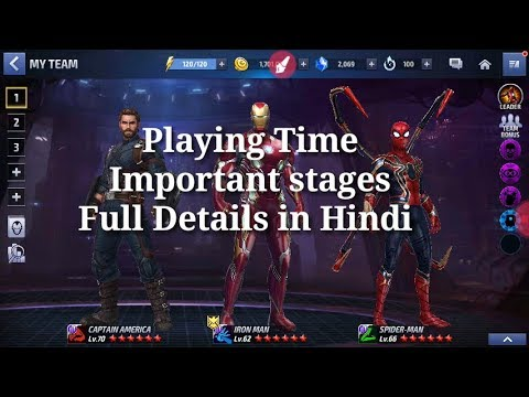 [[ Playing Time Full Details In Hindi ]] Marvel Future Fight HINDI INDIA