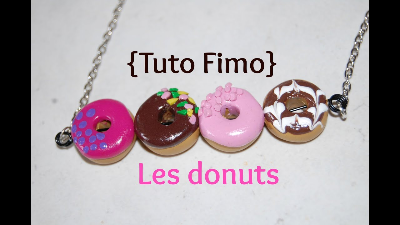 tutoriel n 4 diy donuts en fimo facile clay doughnut youtube. Black Bedroom Furniture Sets. Home Design Ideas
