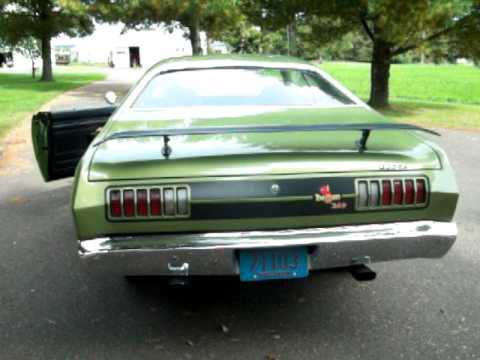 1971 Dodge Demon 340 burnout - YouTube