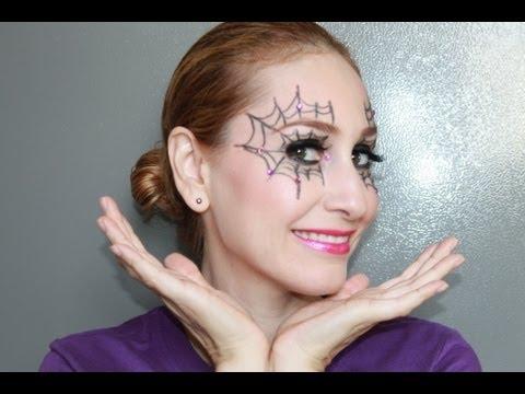 Maquillaje de telara a para el dia de halloween youtube Maquillaje para ninas halloween