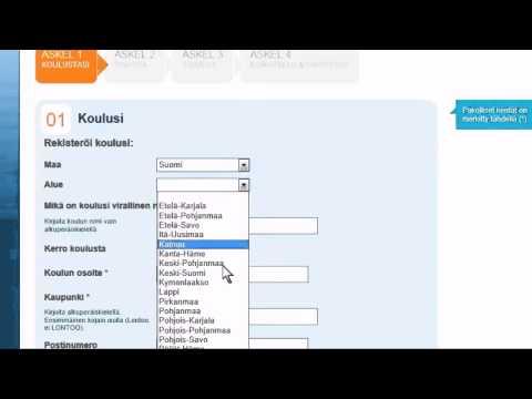 Miten eTwinningin sivuille rekisteröidytään?