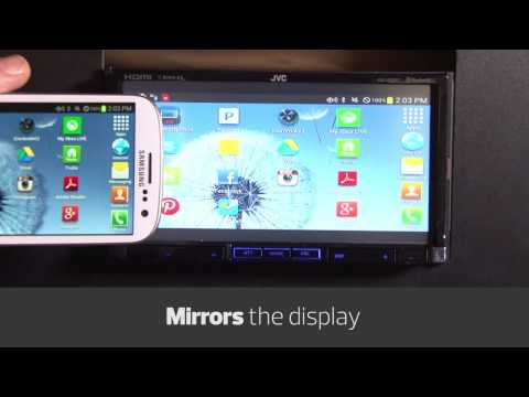 Android smartphone control on the JVC KW-V50BT