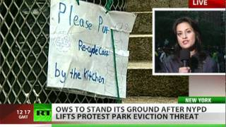 Victory for OWS: Zuccotti Park clean-up shelved