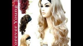 Wigs: Half Head, Fringe and Braid Wig (Black) Thumbnail