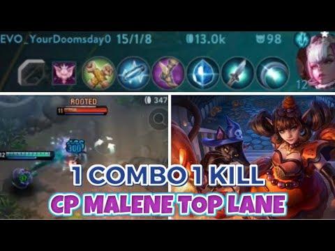 CP MALENE TOP LANE 1 COMBO 1 KILL CRAZY DAMAGE - VAINGLORY 5V5 TIPS