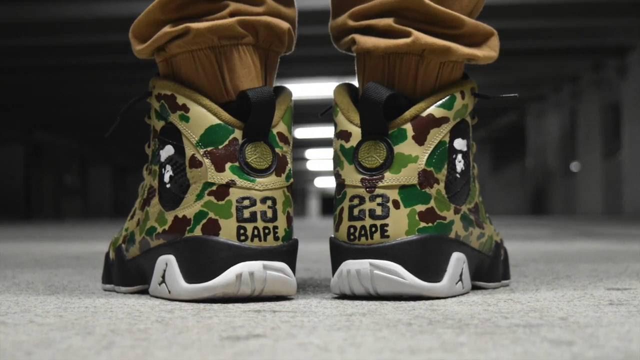 a0e25def96d Bape Custom Jordans! - YouTube