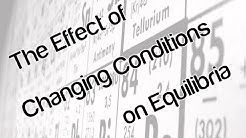 The effect of changing conditions on equilibria