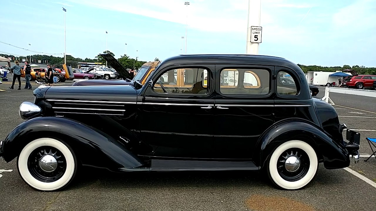 1935 black dodge brothers 4 door sedan with suicide doors for 1935 dodge 4 door sedan