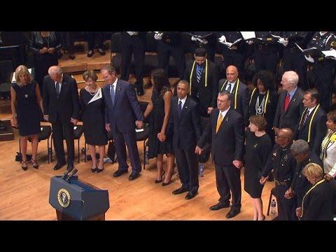 George Bush Faces Backlash For Swaying to Music at Slain Dallas Cops Memorial