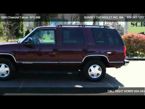 1999 Chevrolet Tahoe Z71  for sale in We Are Truckscom WA 98390