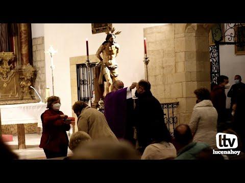 VÍDEO: La imposición de la ceniza y el viacrucis de la Columna abren la Cuaresma en Lucena