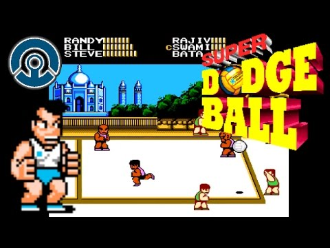 Super Dodge Ball NES Gameplay | Ballz to the Face Hurt!!