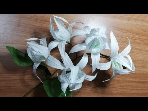 DIY | How To Make An Origami Orchid Flower With Crepe Paper | DIY-Beauty Of Paper