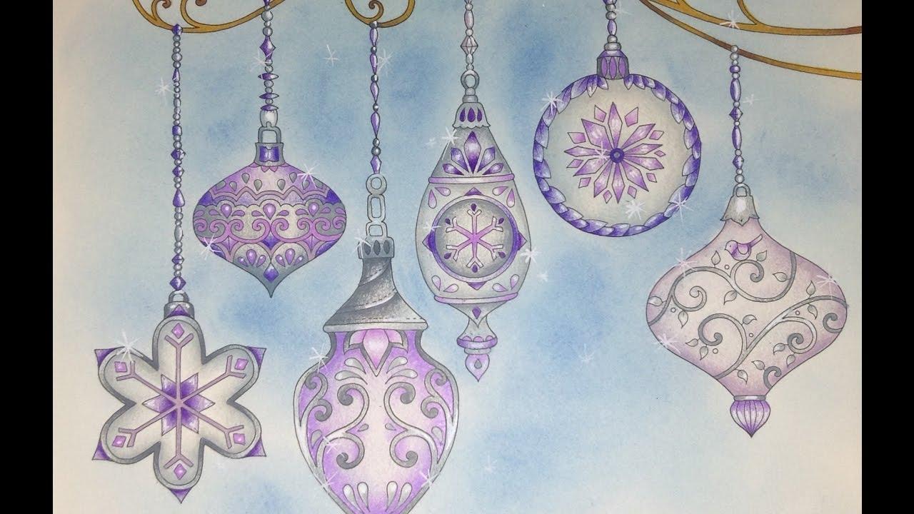 JOHANNAS CHRISTMAS Prismacolor Pencils Color Along
