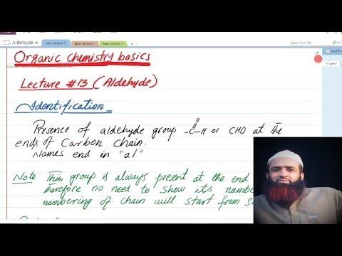 Quetta tv, Organic chemistry basics, lecture # 13, Aldehydes, Urdu/hindi