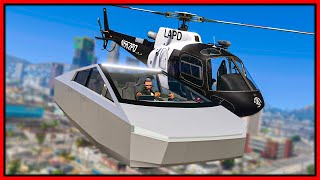 GTA 5 Roleplay - FLYING TESLA CYBERTRUCK TROLLS COPS | RedlineRP