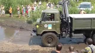 GAZ 66 vs ZIL-131Offroad 6x6 OFFROAD FREE FEST 2016