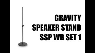 DJ Equipment | Gravity Speakerstand SSP WB SET 1 | Boxenstative