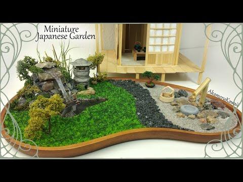Miniature Japanese inspired Garden w/ working Lantern - Tutorial