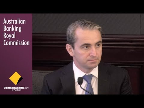 The CEO of Commonwealth Bank testifies at the Banking Royal Commission