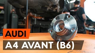 How to replace rear wheel bearing / rear hub bearing on AUDI A4 B6 (8E5) [TUTORIAL AUTODOC]