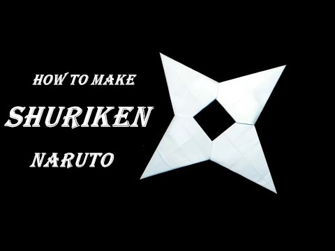 How To Make a Paper Ninja Star Shuriken Naruto  Origami