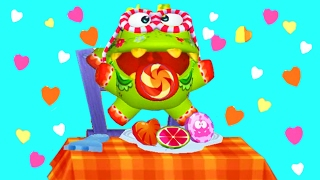 Виртуальный питомец АМ НЯМ # 20 My om Nom смешной виртуальный зверек как мультфильм Funny Games