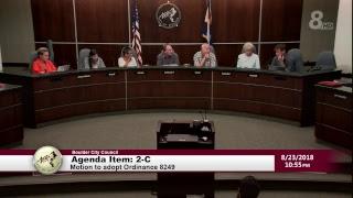 Boulder City Council Special Meeting 08-23-18