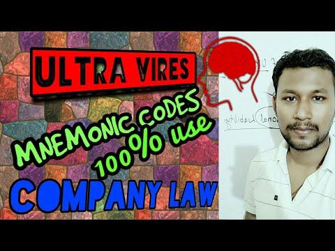 ULTRA VIRES DOCTRINE || ASHBURY RAILWAY CASE || MNEMONIC CODE