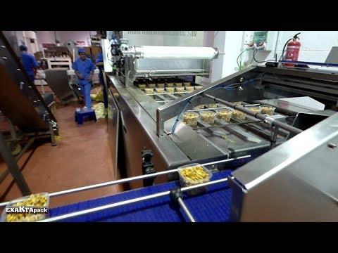 Linea para envasado de cacahuetes en tarrinas de 115 gr