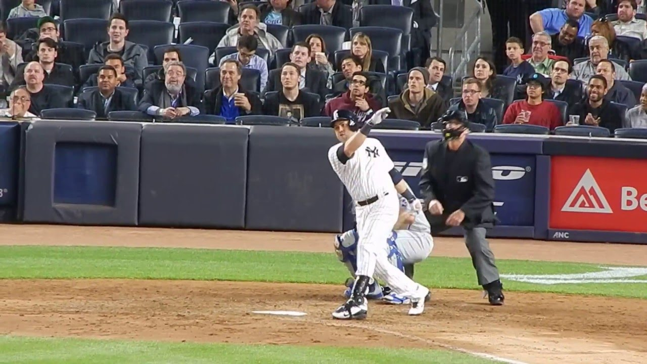 Yankees Carlos Beltran Batting Vs Royals 5 10 16 Hd