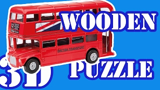 SUPER 3D PUZZLE! HOW TO MAKE A WOODEN DOUBLE DECKER BUS! ROUTEMASTER TOY FOR KIDS!