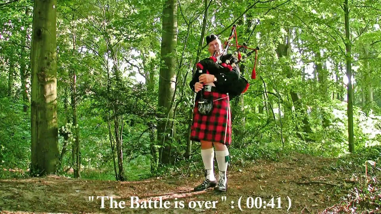 Bagpipe Commemoration Lament : There was a soldier, The Battle is over,  Going Home, Echo Lake