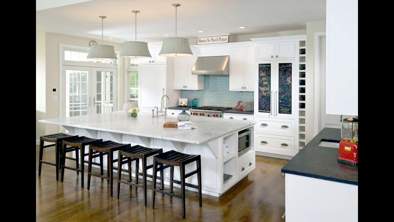 beautiful white kitchen design - interior design 3d •