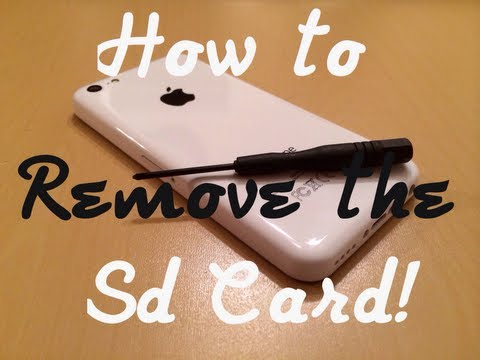 Goophone i5C MTK6572 - How to replace the SD Card!