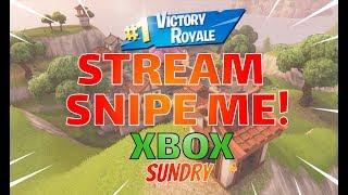 🔴 Come Stream Snipe Me | Xbox One | Fortnite LIVE Stream | 345 + Wins