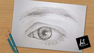 How to Draw and Shade Realistic Eye | Drawing Tutorial