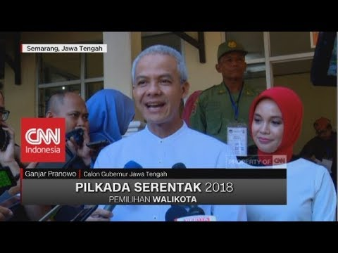 Ganjar Pranowo Nyoblos Di TPS 2 Gajahmungkur Semarang   Pilkada Jateng