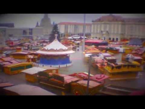 Striezelmarkt 2015 in Dresden: Aufbau im Zeitraffer (Time lapse)