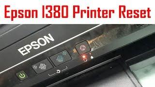 How to reset epson printer l380