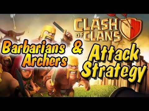 Clash of clans - Barbarian and archer rush strategy