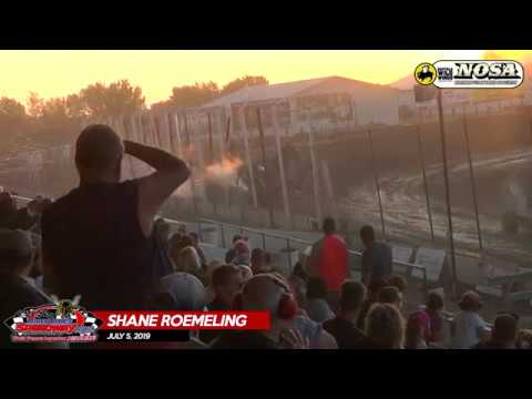 07.05.19 Shane Roemeling Crash - River Cities Speedway - NOSA Sprints