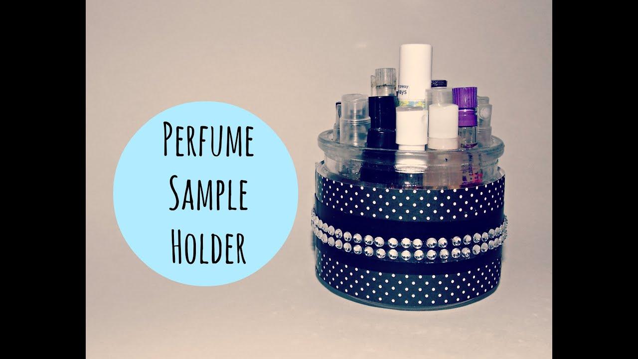 DIY Perfume Sample Holder - YouTube