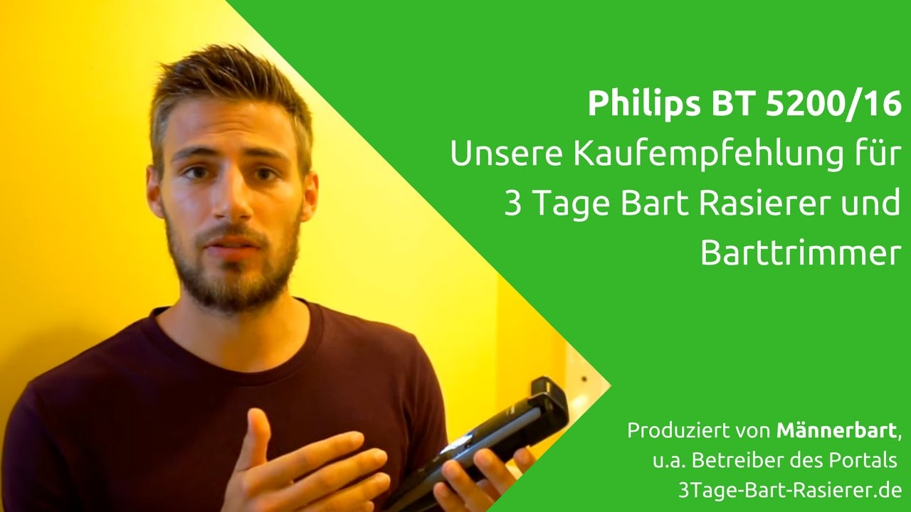 Bester 3 Tage Bart Rasierer Philips Bt520016 Im Test