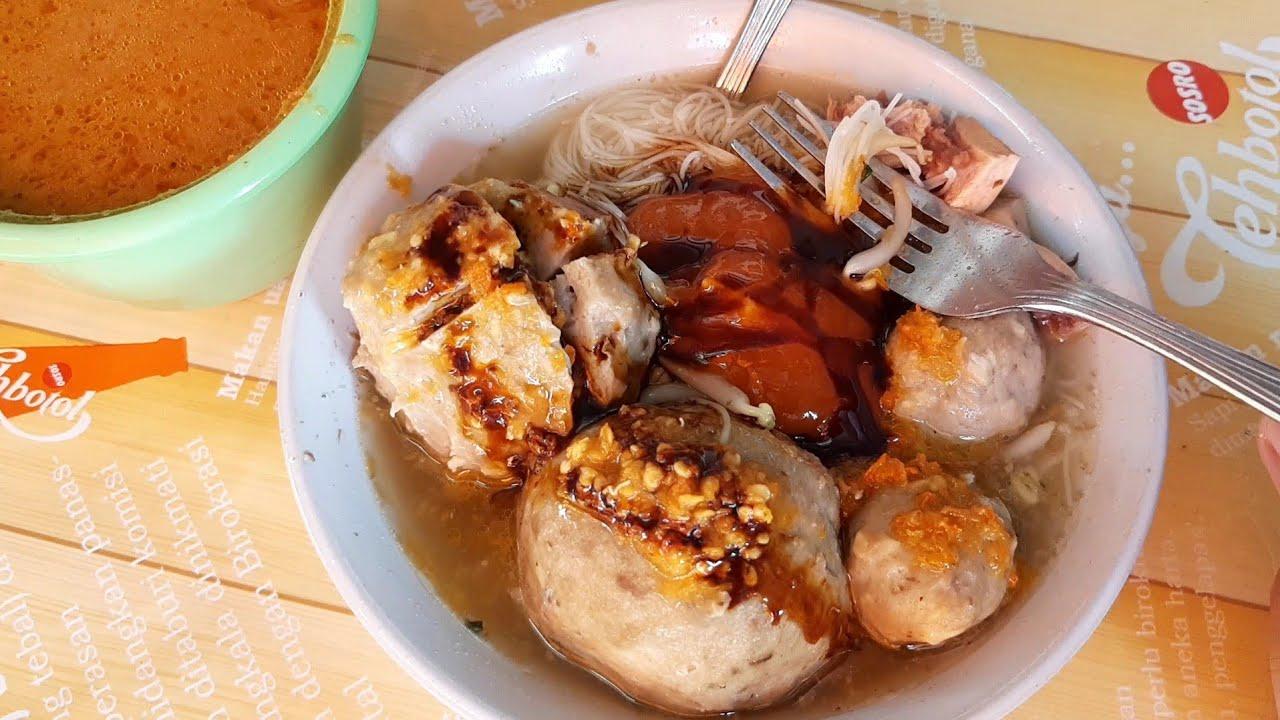 TETELANNYA GRATIS !!! BAKSO MAS GENDUT PERNAH SEHARI MASAK 15 KG DAGING - INDONESIAN STREET FOOD