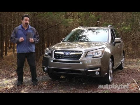 2017 subaru forester touring test drive video review. Black Bedroom Furniture Sets. Home Design Ideas