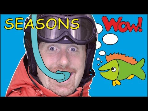Seasons of the Year Story for Kids from Steve and Maggie | Learn Words Free Speaking Wow English TV