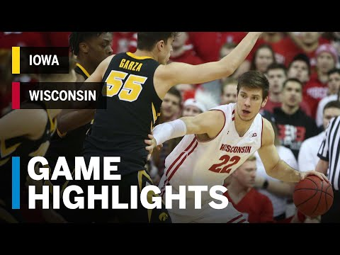 Highlights: Happ Goes for 21 & 14 on Senior Night | Iowa vs. Wisconsin | B1G Basketball